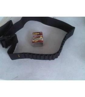 canana para20 balas de rifle con cinturon negro