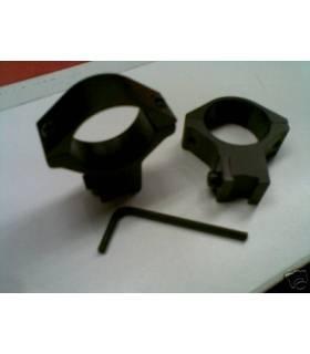 Monturas tipo warne fijas para carril de 11mm y tubo de 30 BAJAS